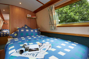 Canal Boat Interior - Double Bed