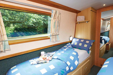 Canal Boat Interior - Single Bed